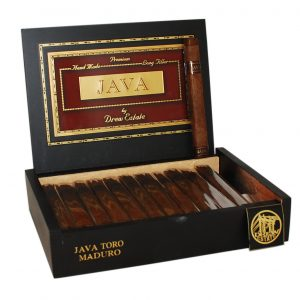 This is a box of Java Maduro Toro